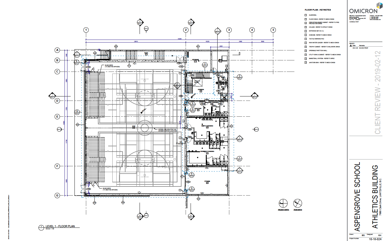 AGS New Gym Drawings - gym level