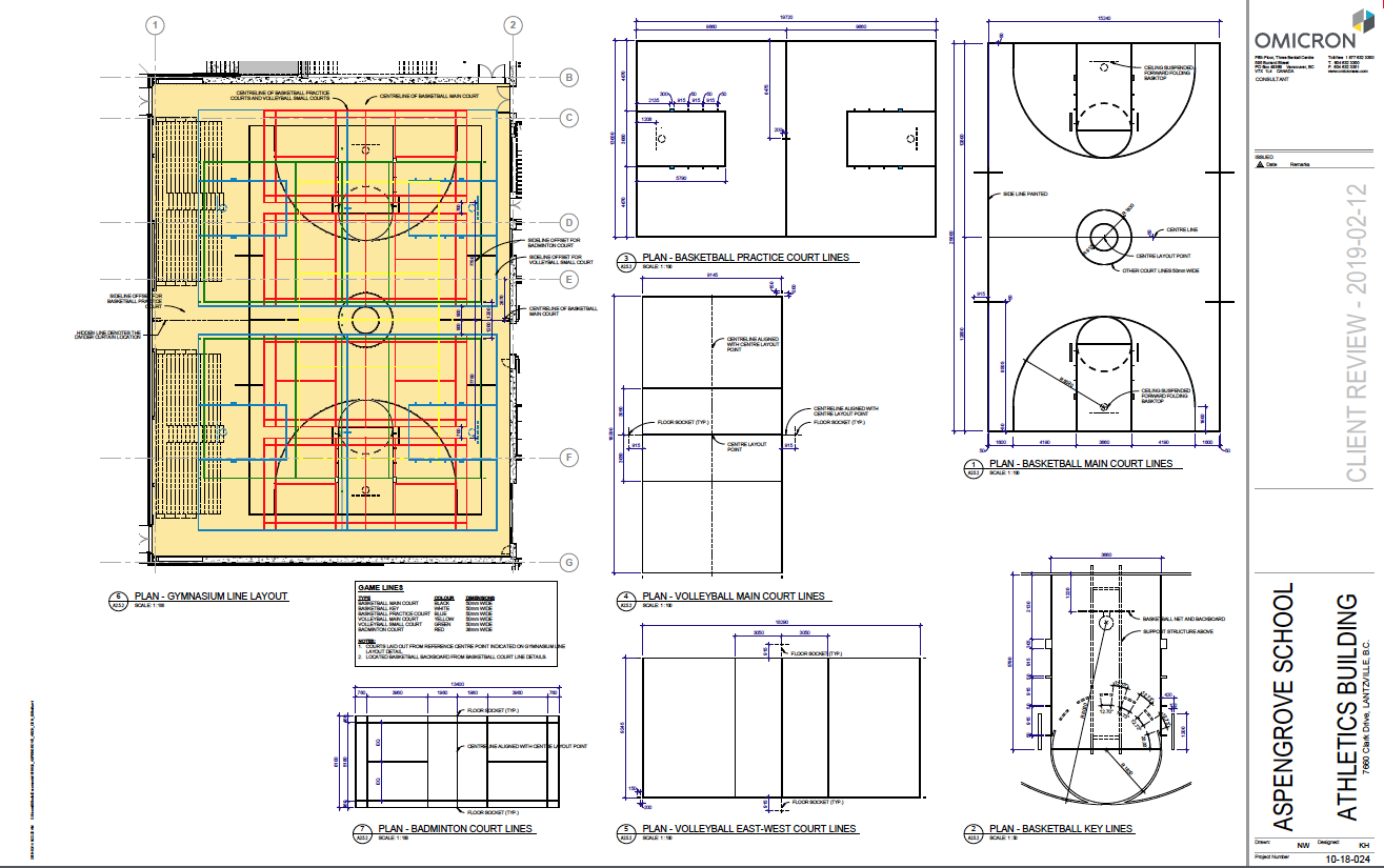 AGS New Gym Drawings - lines