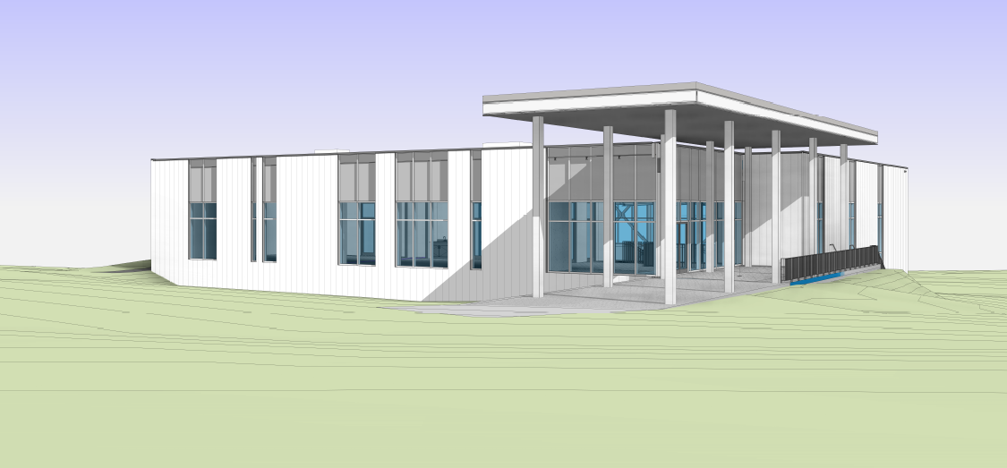 AGS New Gym Drawings - outside colour