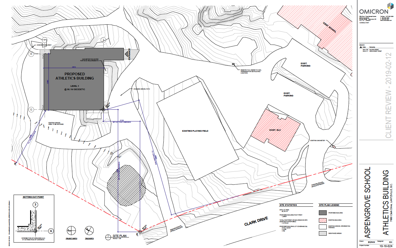 AGS New Gym Drawings - site plan
