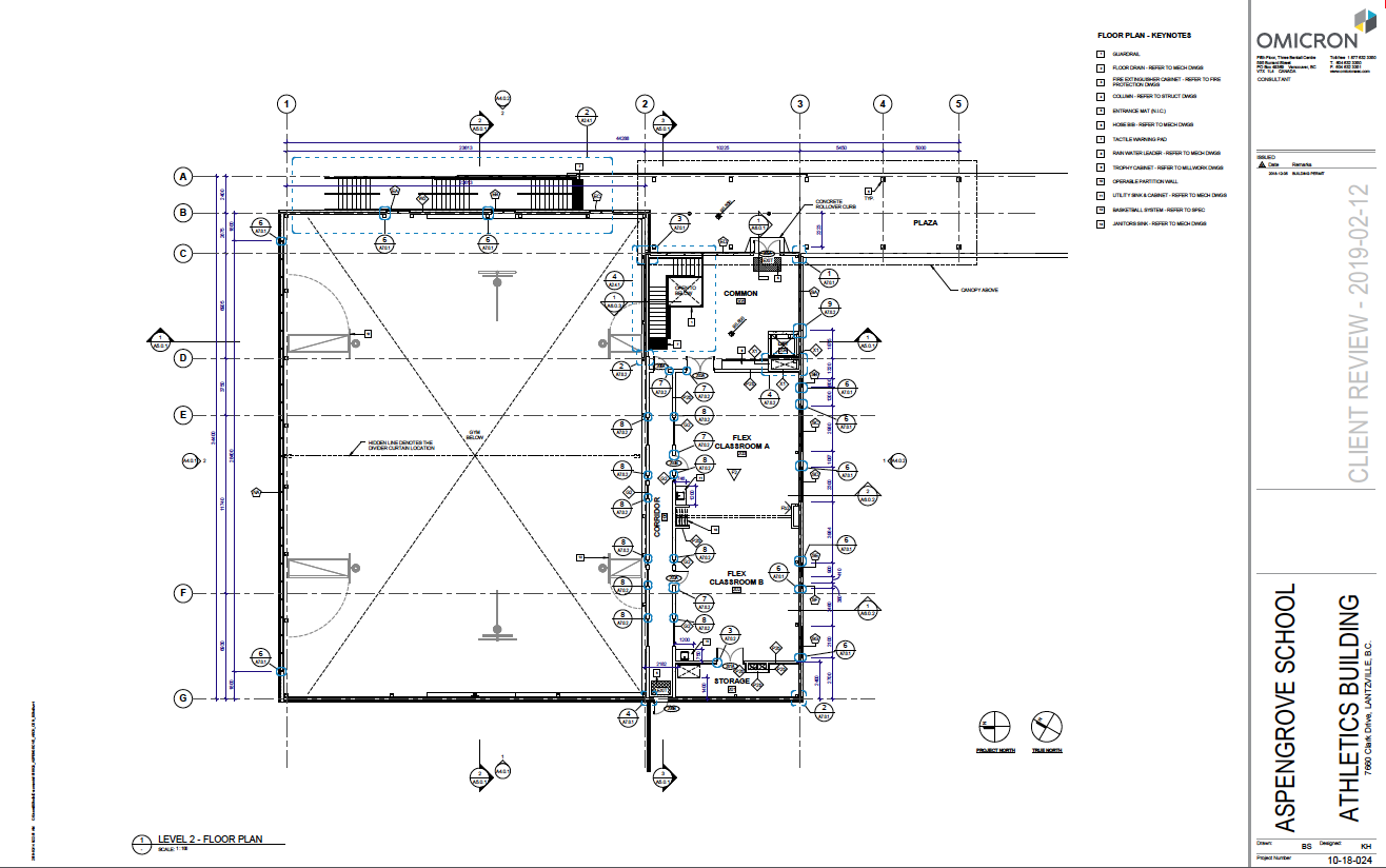 AGS New Gym Drawings - top level